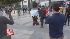 Denizli'de İran protestolarına destek eyleminde 2 gözaltı