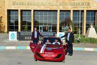 Tuncelili öğrencilerin yaptığı otomobil