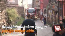 Beyoğlu'nda çıkan yangın paniğe neden oldu