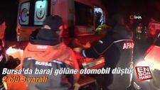 Bursa'da baraj gölüne otomobil düştü: 2 ölü 3 yaralı