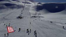 Yarıyıl tatilinde doğunun gözde kayak merkezi Hesarek
