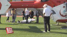 Aort damarı yırtılan hasta hava ambulansıyla sevk edildi