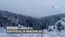 Uludağ'da kartpostallık kar manzaraları