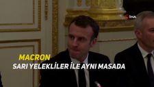 Macron, Sarı Yelekliler ile aynı masada