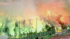 Panathinaikos - Olympiakos derbisi yarıda kaldı
