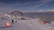'Kış manzaralı' yamaç paraşütü