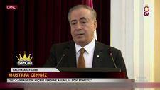 Mustafa Cengiz konuşurken elektrikler kesildi