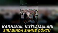 Karnaval kutlamaları sırasında sahne çöktü