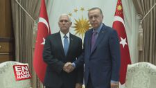 Erdoğan, ABD Başkan Yardımcısı Mike Pence'i kabul etti