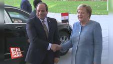 Angela Merkel, Sisi'yi kabul etti