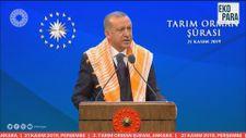 Erdoğan: Tarımsal hasılada dünyada 7'nci, Avrupa'da ise birinci sıradayız