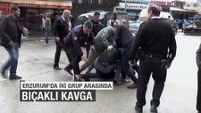 Erzurum'da iki grup arasında bıçaklı kavga