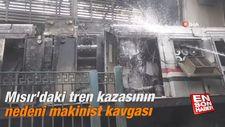 Mısır'daki tren kazasının nedeni makinist kavgası