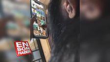 Akıllı telefonu çoğumuzdan zarif kullanan şempanze