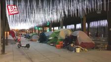 ABD'de evsizlerin koronavirüsle mücadelesi