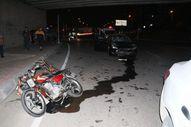 Adana'da otomobil engelli motosikletine çarptı