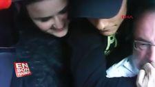 Polonya'da taksi sürücüsünü soyan gençler kamerada