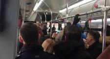 Ankara'da yolculara küsen şoför dakikalarca otobüsü bekletti