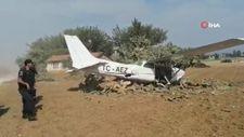 Antalya'da sivil eğitim uçağı yoldan çıktı