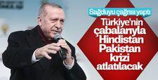 Cumhurbaşkanı Erdoğan'dan Hindistan-Pakistan açıklaması