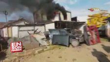 3 yaşındaki çocuk alev alev yanan konteynerden kurtarıldı