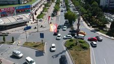 G.Saray'ın kutlama videosunda trafik kazası yaşandı
