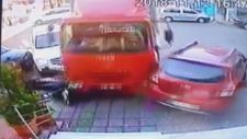 Freni patlayan kamyon dehşet saçtı