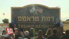 İsrail Golan Tepeleri'nin bir kısmına Trump adını verdi