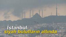 İstanbul siyah bulutların altında