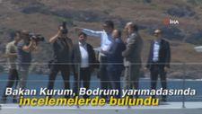 Bakan Kurum, Bodrum yarımadasında incelemelerde bulundu
