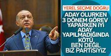 Başkan Erdoğan: Ben değil biz partisiyiz
