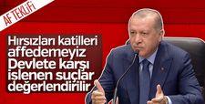 Başkan Erdoğan MHP'nin af teklifini değerlendirdi