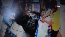 Beykoz'da tırnakçı kadınlar kameradan kaçamadı