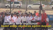 Şırnak'ta terör örgütünün hedef aldığı okullarda eğitim başladı