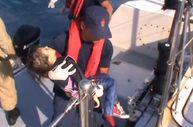 Bodrum'da batan tekneden kaçakların kurtarılması