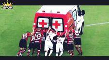 Brezilya'da ambulans sahada bozuldu
