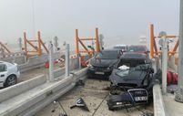 Bursa gişelerinde sis nedeniyle meydana gelen zincirleme kaza