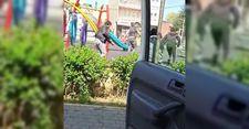 Bursa'da zabıta ekiplerini gören gençler kaçtı
