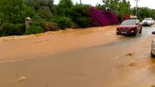Bodrum'da su hattı patladı; oteller boşaltıldı