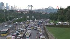 İstanbul'da tatil dönüşü trafiği