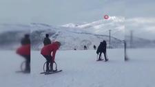 Bitlisli çocukların el yapımı kayak takımları