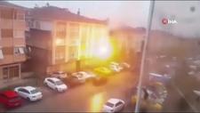 Ankara'da elektrik direğindeki patlama