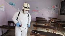 İdlib'de 315 okul ve 193 mülteci kampı dezenfekte edildi