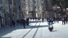 Taksim'de insan hareketliliği