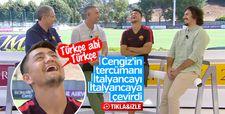 Cengiz Ünder'in tercümanı İtalyancayı İtalyancaya çevirdi