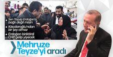 Cumhurbaşkanı Erdoğan Mehruze Teyze ile görüştü
