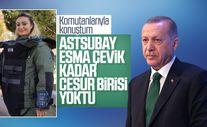 Cumhurbaşkanı Erdoğan şehit Esma Çevik'i andı