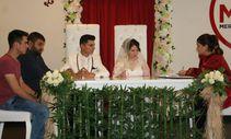 Denizli'de öksüz çifte imece usulü düğün