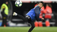 Ronaldo'nun oğlu babasının izinden gidiyor