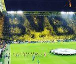 Dortmund taraftarlarının konfetiyle yaptığı müthiş koreografi